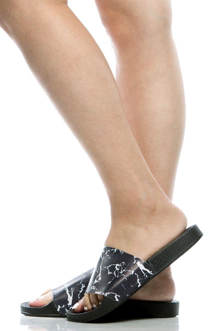 Black Marble Slide Sandals @ Cicihot Sandals Shoes online store sale:Sandals,Thong Sandals,Women's Sandals,Dress Sandals,Summer Shoes,Spring Shoes,Wooden Sandal,Ladies Sandals,Girls Sandals,Evening Dress Shoes