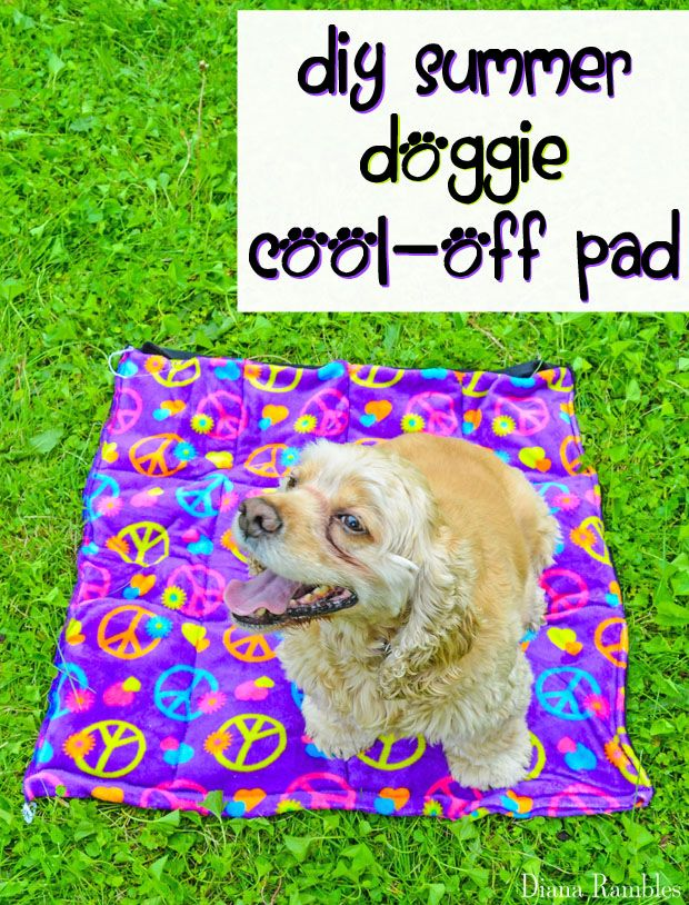 DIY Dog Summer Cool-Off Cooler Pad Sewing Tutorial - Need to keep your dog cooled off this summer? Here is a DIY Doggie Cool Pad Tutorial that will keep your pooch cool while he's outside with the family.