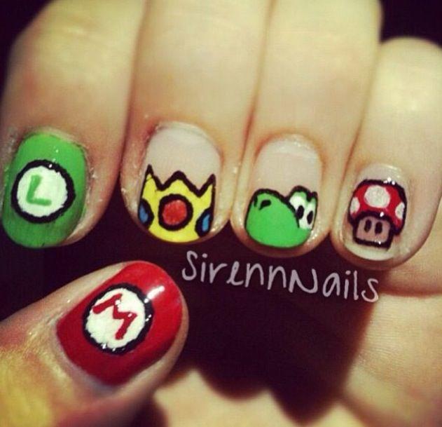 Mario brothers nails