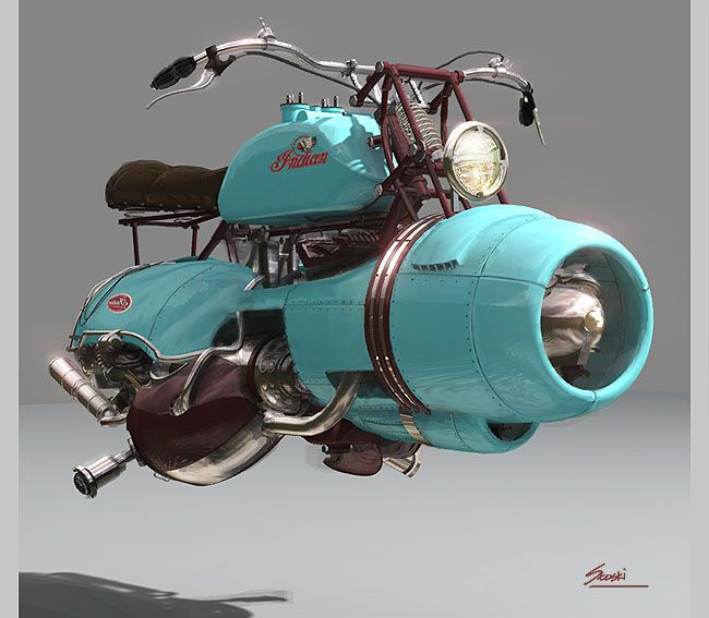 hovering bike vintage style ; ) (via Do Not Open Until Christmas @tumblr 75980731497)