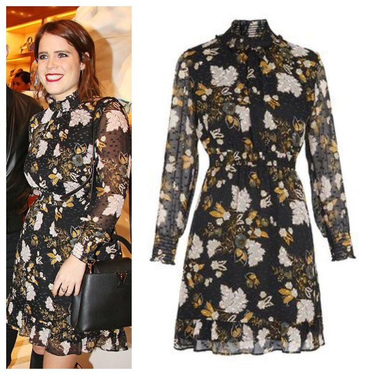 Princess Eugenie in Whistles dress, January 2018