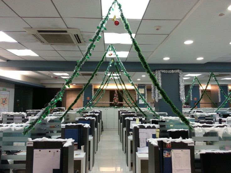 How we decorated our office on X'mas '13