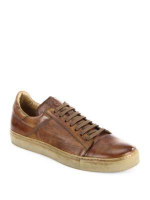 BELSTAFF Wanstead Low-Top Leather Sneakers. #belstaff #shoes #sneakers
