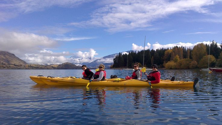 Team building opportunities everywhere you look... Lake Wanaka is full of kayaking, paddle boarding & boating options.