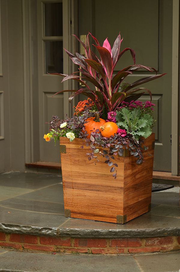 4 Festive Ideas for Fall Container GardeningFall Planter, Fall Containers, Porches Decor, Fall Container Gardening, Fall Garden, Fall Plants, Fall Outdoor Planters Ideas, Fall Flowers Pots Porches, Fall Container Gardens