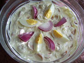 majonézes virslis tojássaláta