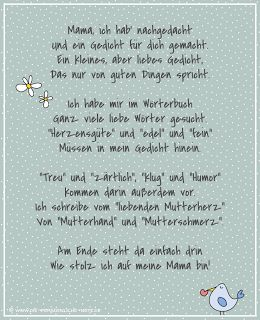 Freebie: Kostenloses Muttertagsgedicht für Kinder