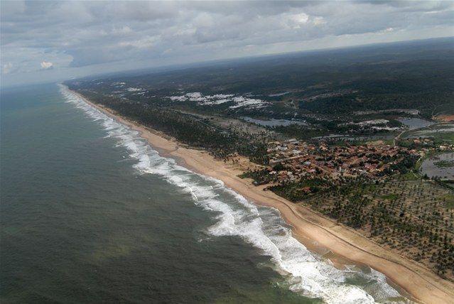 Baixios - 7 hectares beira-mar. Grande terreno próximo ao centro do Vilarejo. Ideal para construção de hotel, resort ou loteamento para construção 69.900 m2