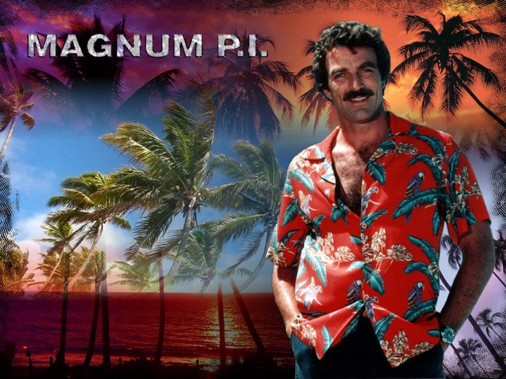 magnum pi... love it. never missed an episode when i was a kid.