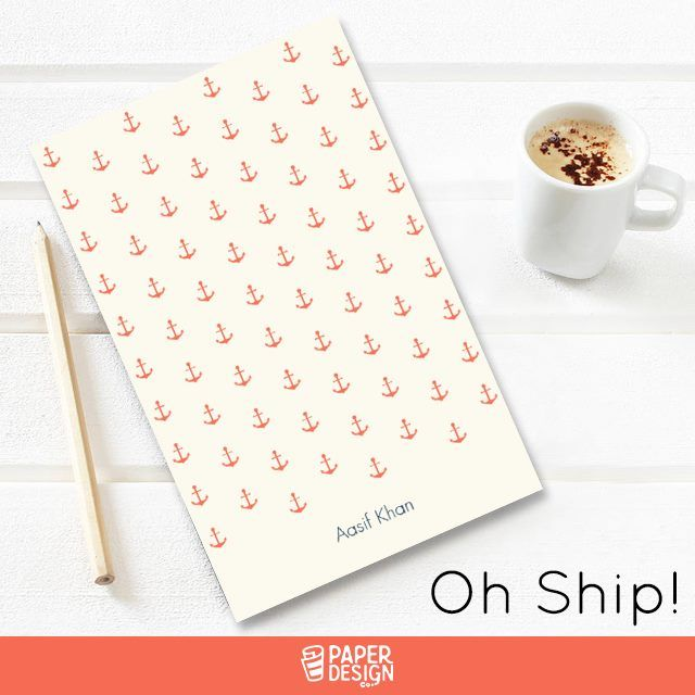 Anchor yourself, stay grounded and set out on a nautical adventure! Checkout our nautical range of designs. Shop Now  #Notepad #Notepads #CustomNotepads #CustomNotepad #NotepadsBuy #NotepadsBulk #Bangalore #India