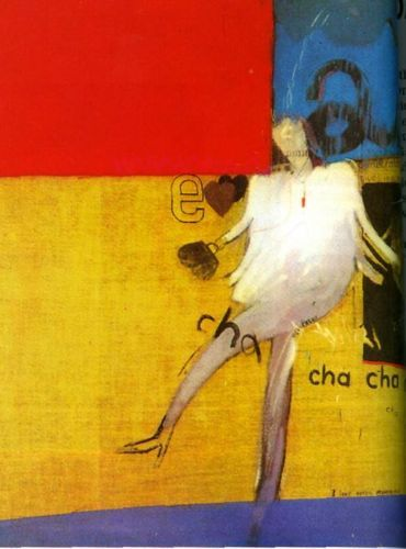 """""""The Cha Cha that was danced in the Early Hours of 24th March 1961"""" by David Hockney"""