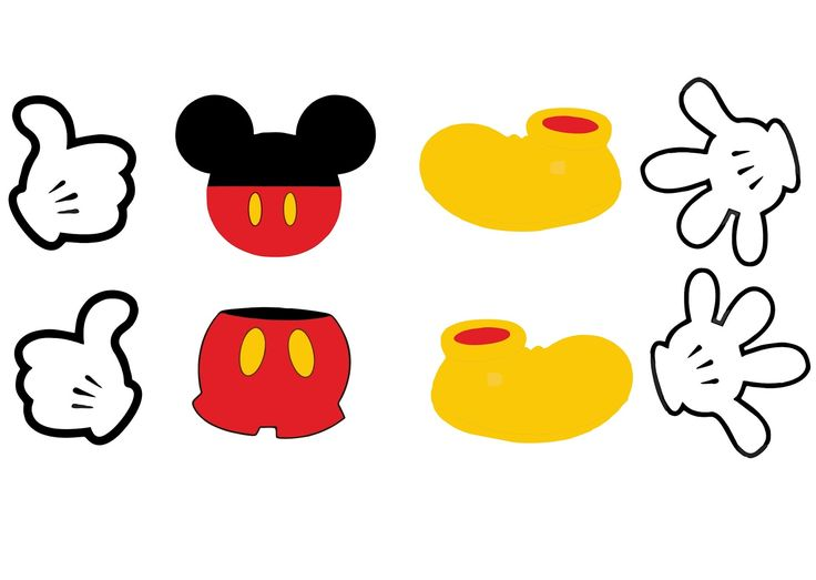 Pé e Mão do Mickey vetor grátis | Vetorizado grátis: Vetores gratis, vector art free, Graphics vectors Images