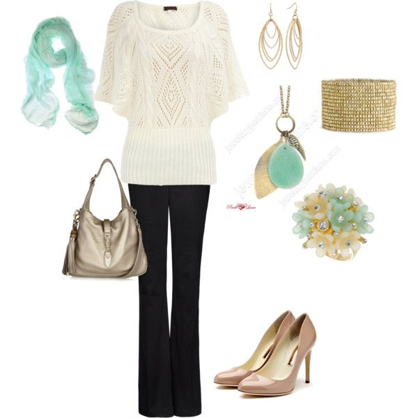 Gold and aqua, created by melissa-bachman.polyvore.com