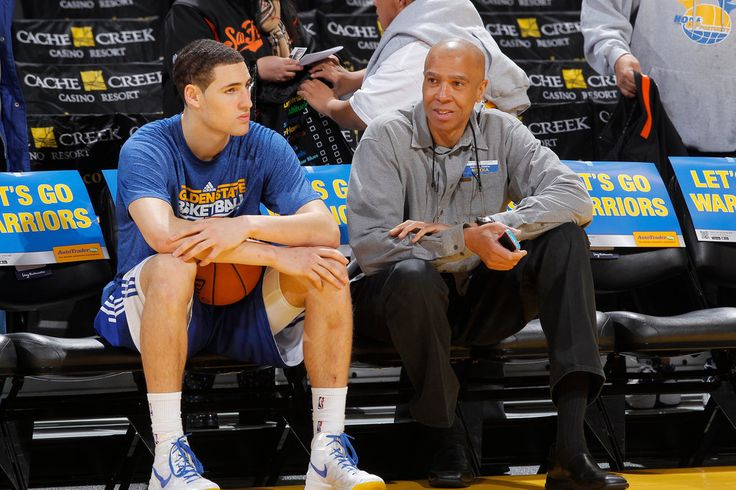 Klay Thompson's ascent with the Golden State Warriors has left his father, Mychal, the former Laker and current Lakers broadcaster, with mixed emotions.