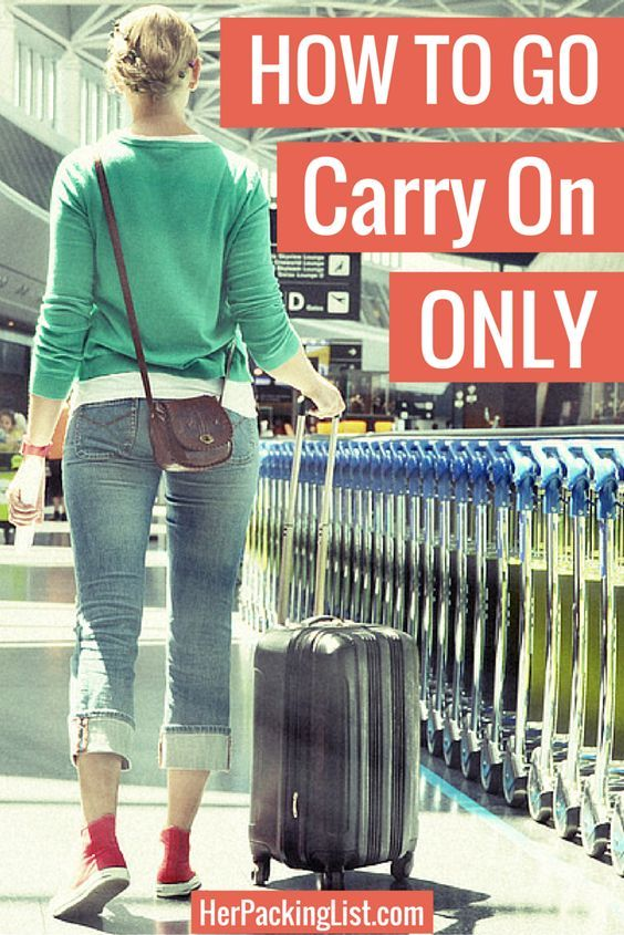 With prices for baggage becoming more expensive and airlines limiting size even further, now is a good time to start traveling with only a carry on.