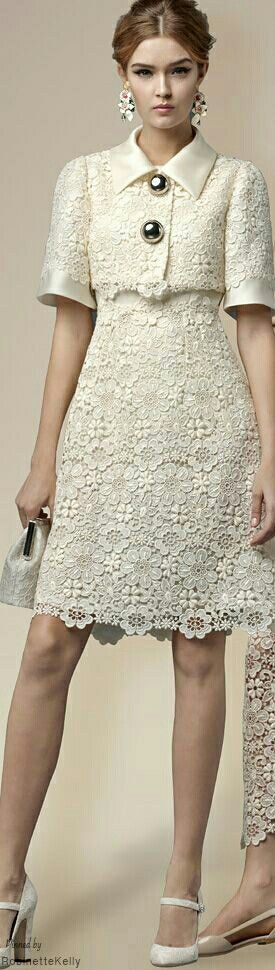 Classy, unfussy way to do lace