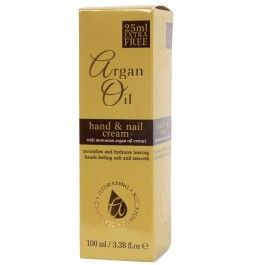 Hand & nail cream with moroccan argan oil extract. Nourishes and hydrates leaving hands feeling soft and smooth 100ml.