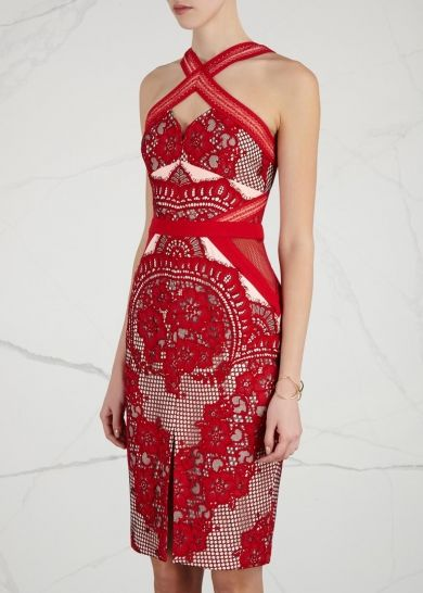 lace pattern dress - Red Three Floor Free Shipping Visit New vpT5Myon4s