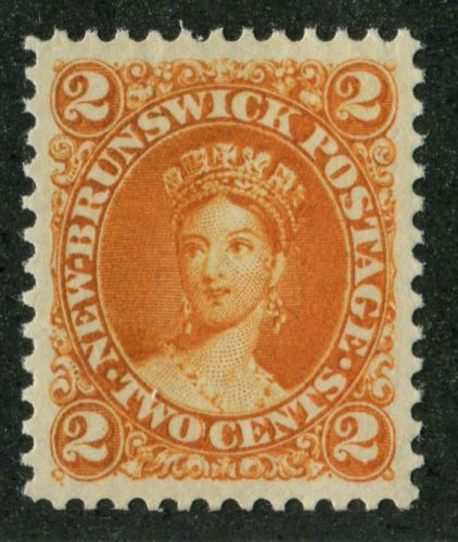 New-Brunswick-7b-2c-Deep-Orange-Cents-Issue-Queen-Victoria-VF-84-Unused