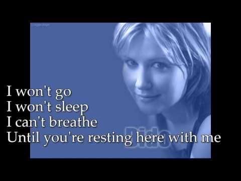 DIDO - Here With Me -lyrics -