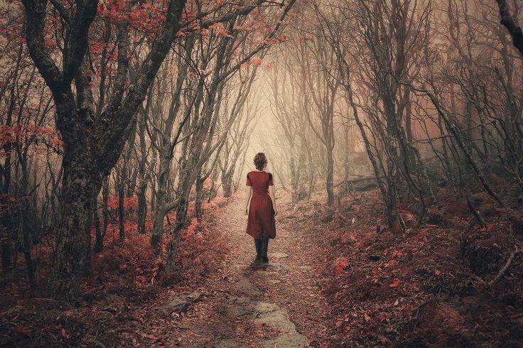 Girl In The Woods Vinyl Print