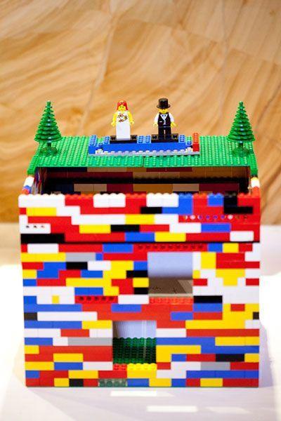 urne originale en forme de lego, jouet pour enfant
