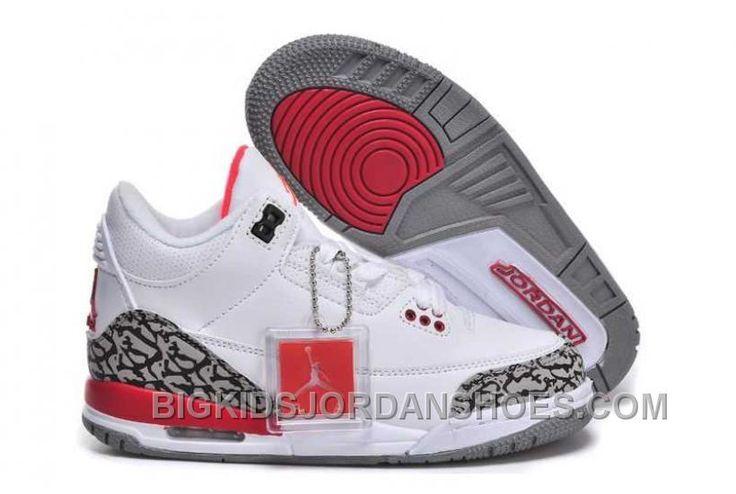 http://www.bigkidsjordanshoes.com/hot-nike-air-jordan-3-kids-white-red-shoes.html HOT NIKE AIR JORDAN 3 KIDS WHITE RED SHOES Only $0.00 , Free Shipping!