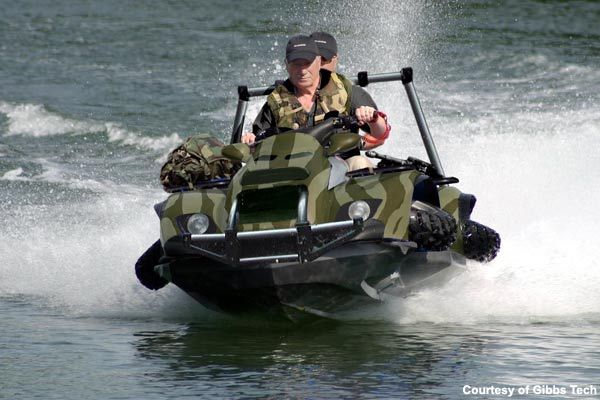 Gibbs Technologies' high-speed amphibian technology has been integral in developing a new breed of vehicle for amphibious use.