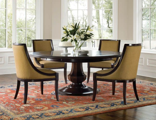 Brownstone Sienna Round Dining Table   it has 6 perimeter extension leaves  that expand the diameter from to   all while keeping the round shape intact 11 best round pedestal table images on Pinterest   Dining room  . Arlington Round Sienna Pedestal Dining Room Table W Chestnut Finish. Home Design Ideas
