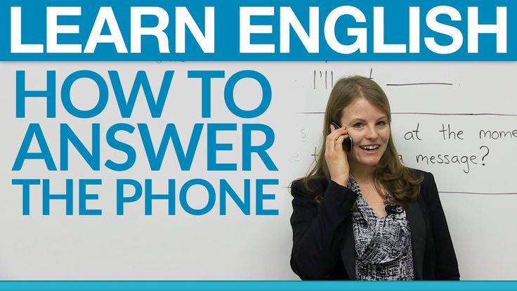 Speaking English - How to answer the phone