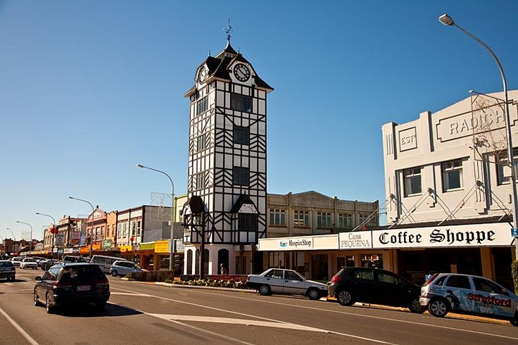 Stratford, the Glockenspiel, without bells,  see more at New Zealand Journeys app for iPad www.gopix.co.nz