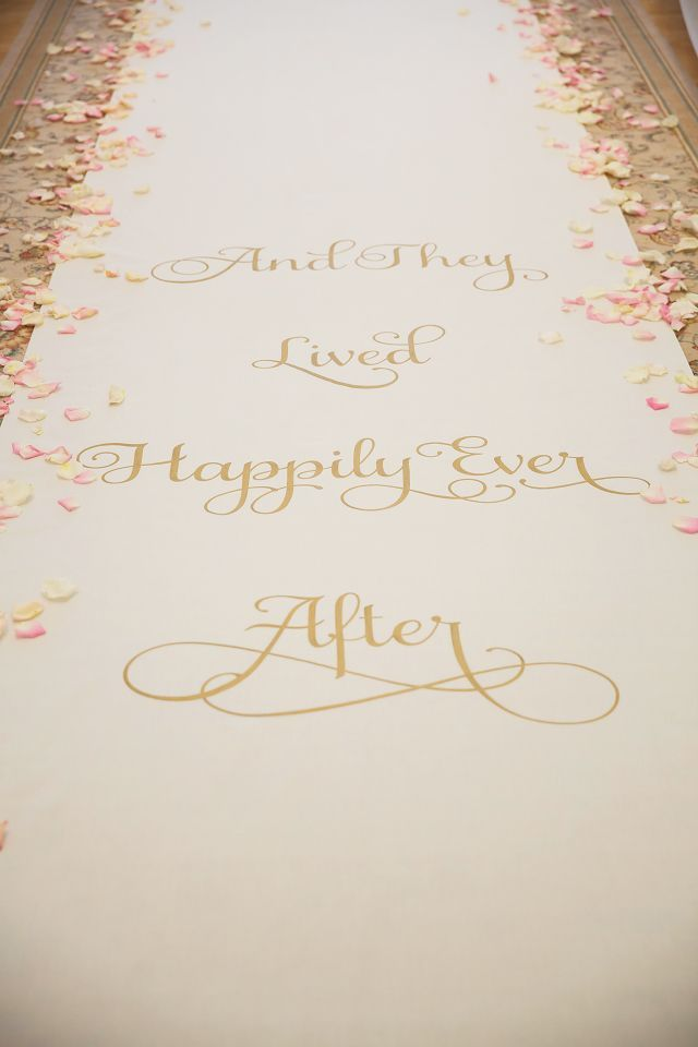 disney bruiloft Loper 'And they lived happily ever after!