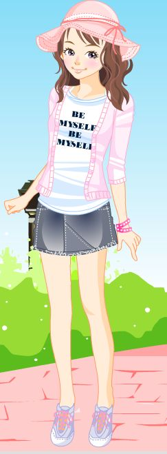 Online dress-up games - Pretty in pink