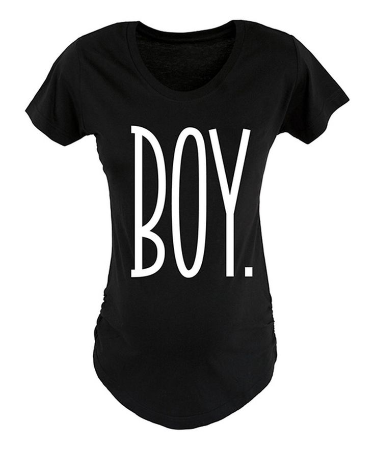 Look what I found on #zulily! Black & White 'Boy' Maternity Tee - Women by Belly Love #zulilyfinds
