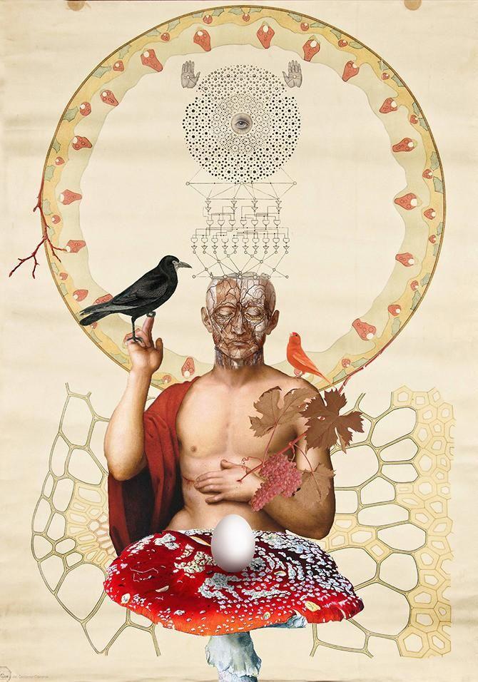 Marla Morgenstern - Marla, 2014, artist, Romania, COLLAGE, the occult, symbolism, Thomas didn't believe in Jesus