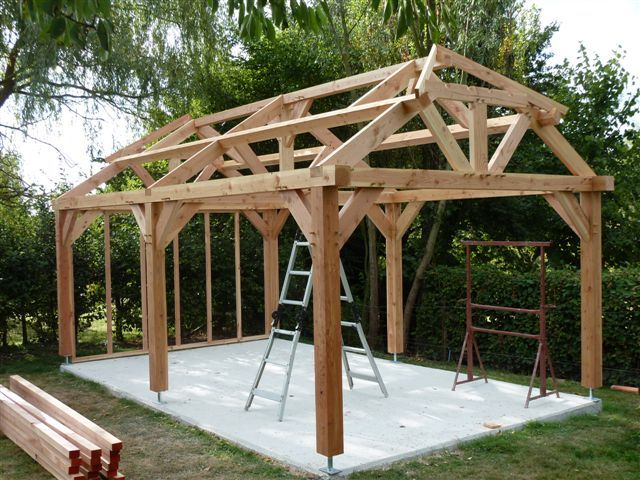 Wooden Carport Frame Wooden Thing