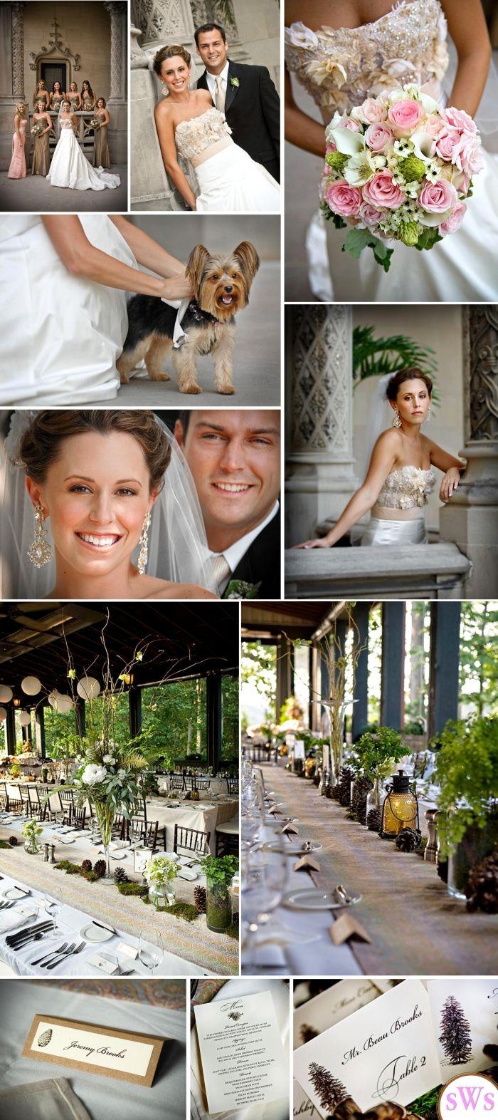 Formal Rustic Wedding: Edge Decor, Bridesmaid Dresses, Colors, Rustic Chic, Pine Cones, Card, Rustic Weddings, Rustic Wedding Chic, Formal Rustic