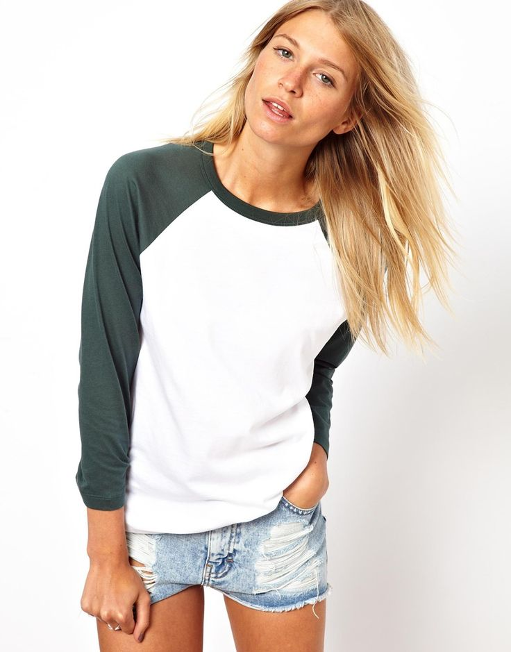 ASOS colorblock baseball tee