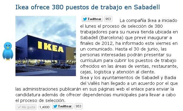 Ikea ofrece 380 puestos de trabajo en Sabadell