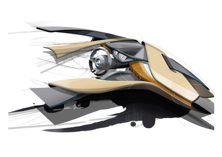 BMW 3 Series Interior Design Sketch