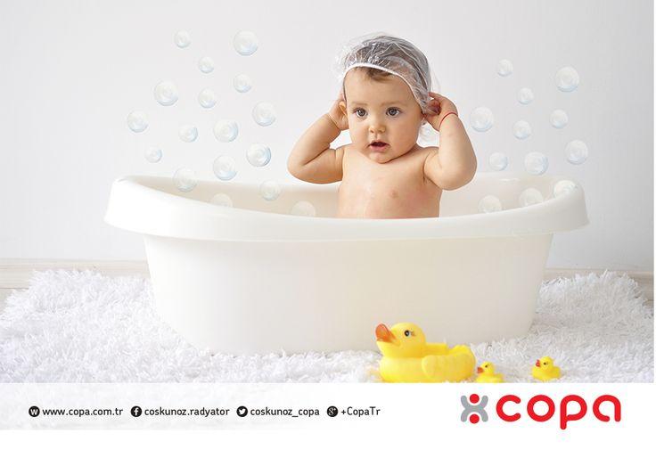 Değerliniz, değerlimiz...  Ailenin en değerlilerinin banyolarını Copa Şofben'e emanet edebilirsiniz... #copa #copamayacaksiniz #sofben #bebek #cocuk #banyo