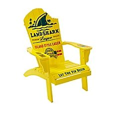 image of Margaritaville® Outdoor Classic Wood Adirondack Chair in Yellow
