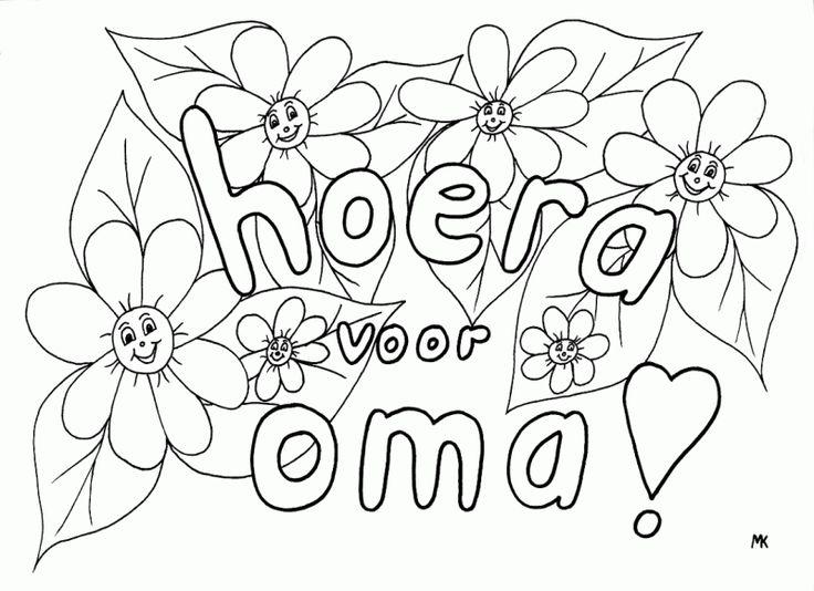 Kleurplaat Oma Jarig Kleurplaat Oma Jarig 1 Meme 80 Jaar