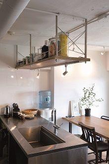 リノベる、キッチン、吊り棚