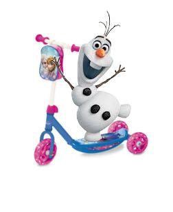 Patinete infantil 3 ruedas barato Frozen y con mochila precio oferta
