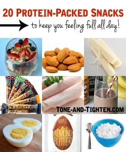 20 High Protein Snacks on Tone-and-Tighten