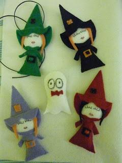 Brujas Fieltro y Hallowen