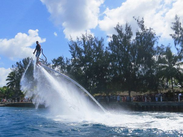 "Vila Flyboard is new and loads of fun. Guests usually finish saying, "" I feel like Iron Man"" doing all that ;-)"