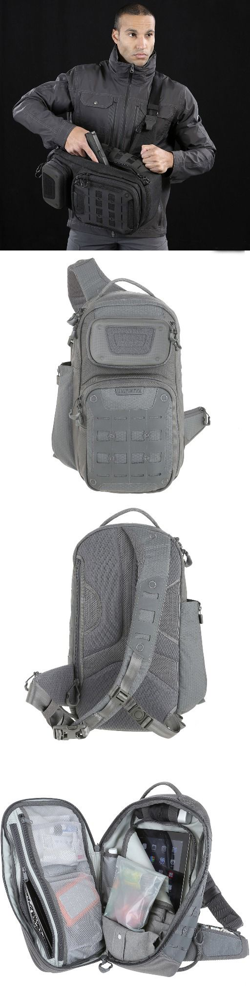 AGR™ Advanced Gear Research: GRIDFLUX™ Sling Pack by Maxpedition. .  A fleece-lined EVA pocket is also featured on the front of the pack to store fragile items such as sunglasses or a point-and-shoot camera.