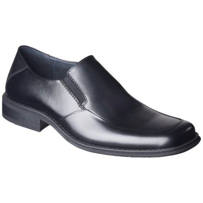 Men's Merona Tobin Leather Dress Shoe - Black